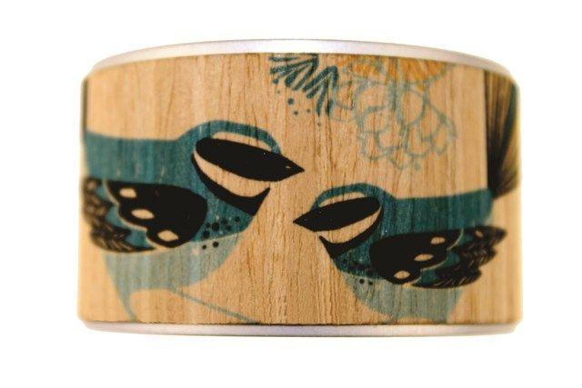 The Paua Room - Jill Main Aluminium and Wood Cuff , $36.00 (http://www.thepauaroom.com/jill-main-aluminium-and-wood-cuff/)