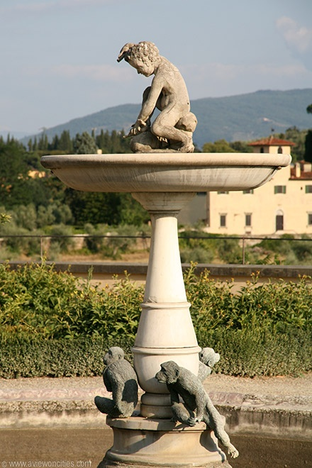 Fountain in the Rose Garden of the Boboli Gardens in Florence. This is one of my favorite spots in all of Italy, actually.