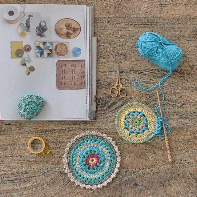 crochet mandala #craftastherapy