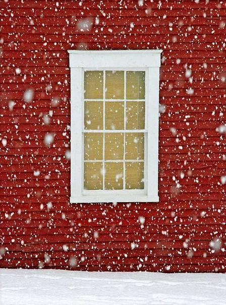 snow: Winter Snow, Holiday, Red Wall, Winter Wonderland, Windows, Red Houses, Let It Snow, Photo, Merry Christmas