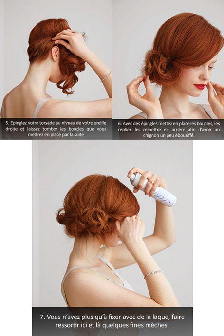 Idée chignon cheveux mi long                              …