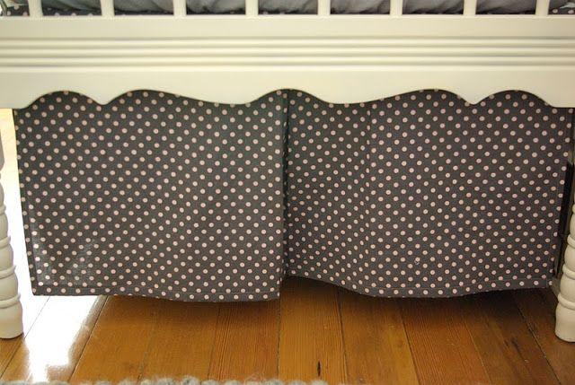 Make this: Pleated Crib Skirt Pattern
