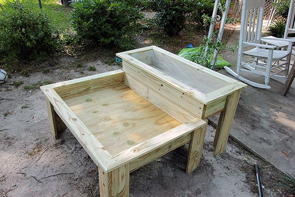 How to Make a Kids Sandbox with a Raised Herb Garden