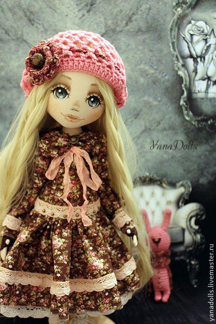 Купить Энджи - розовый, кукла, кукла ручной работы, кукла в подарок, кукла текстильная
