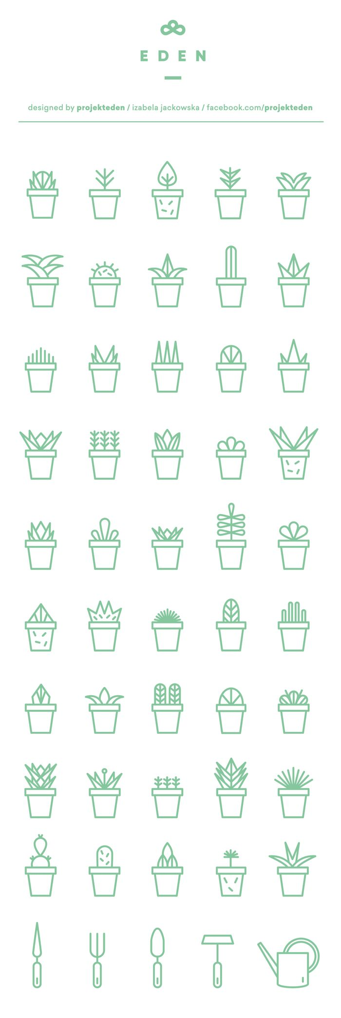 17 best ideas about logo design logo succulent icon set on behance