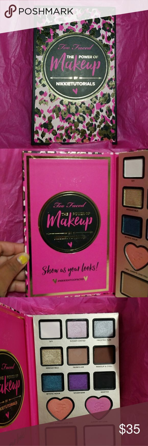 Nikkie Tutorials Power Of Makeup Palette Nikkie Tutorials Power Of Makeup Palette  All Colors Barely Used About 3 Times  Authentic Purchased From Ulta  Does Not Come With The Glitter or Glue  No Trades Too Faced Makeup Eyeshadow