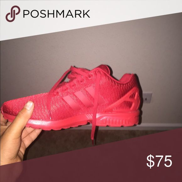 Adidas ZX Flux All red size 13 Adidas ZX Flux. Very good condition Adidas Shoes Sneakers