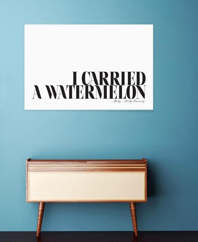 I Carried A Watermelon als Premium Poster von Honeymoon Hotel | JUNIQE