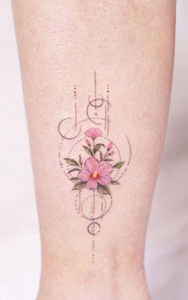 Idées uniques de tatouage de knuckle de fleur rose aquarelle pour des femmes…   – Tattoos