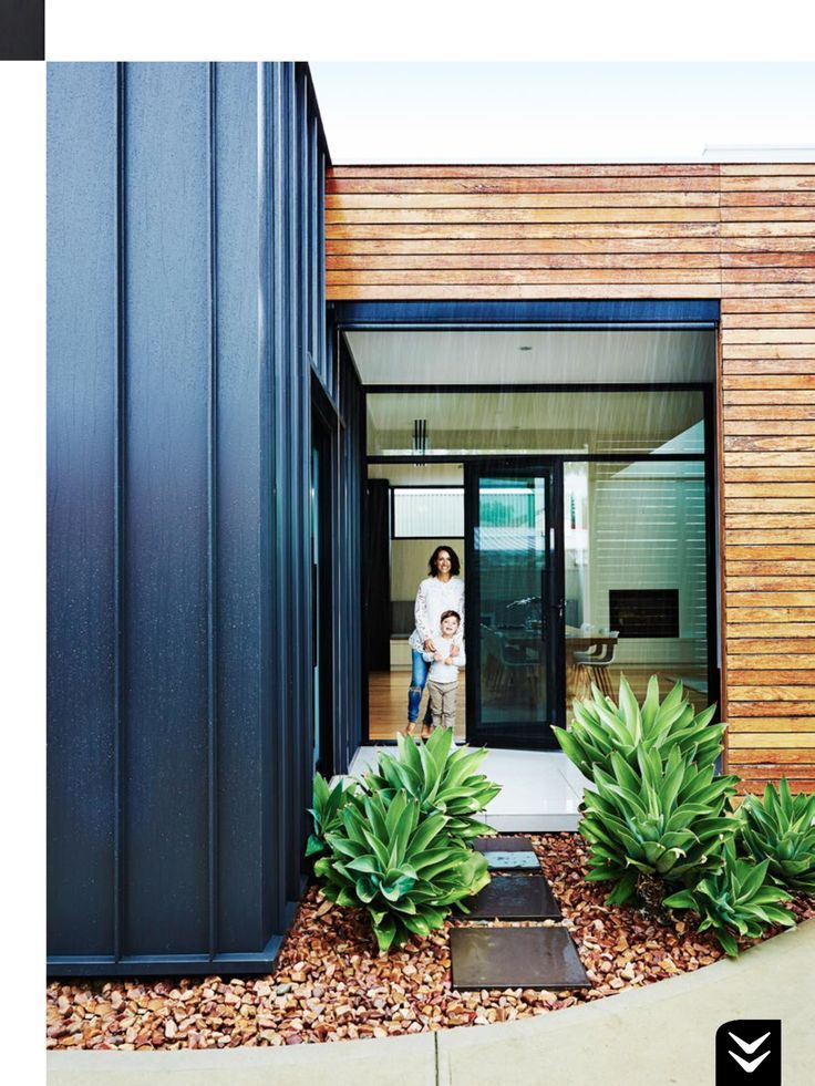 Image result for metal cladding and timber exterior