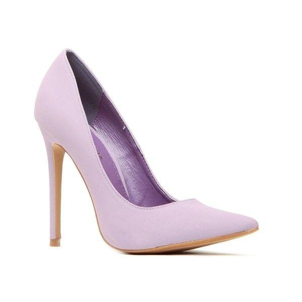 Classic Pump Lavender ($11) ❤ liked on Polyvore featuring shoes, pumps, lavender pumps, light purple shoes and lavender shoes