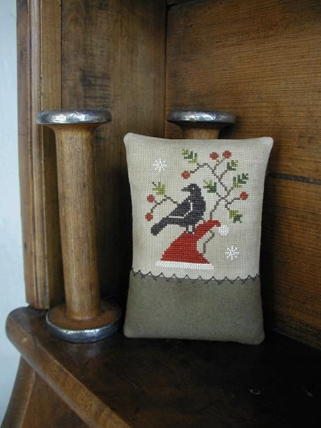 Primitive Cross Stitch Pinkeep Pattern  by threadworkprimitives, $10.00