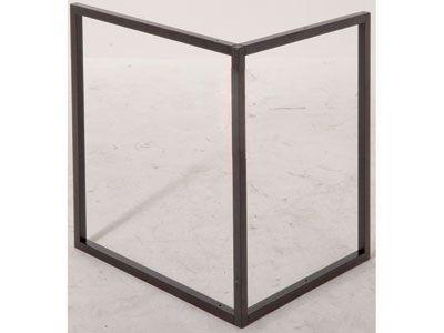 1000 id es sur le th me treteaux metal sur pinterest tr teaux pietement table et m tal. Black Bedroom Furniture Sets. Home Design Ideas