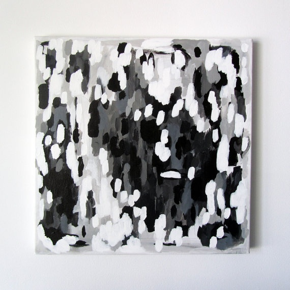 Modern original abstract painting no 68 acrylic on canvas 18 x 18