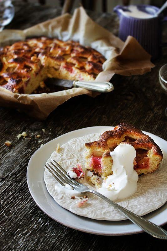 Pratos e Travessas: Bolo de ruibarbo e laranja # Rhubarb, orange cake | Food, photography and stories