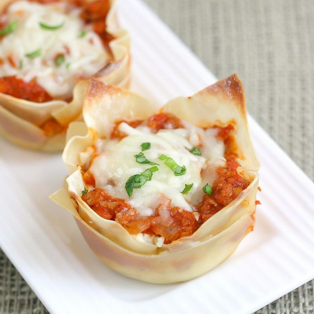 Muffin Tin Mini Lasagna by Tracey's Culinary Adventures, via Flickr