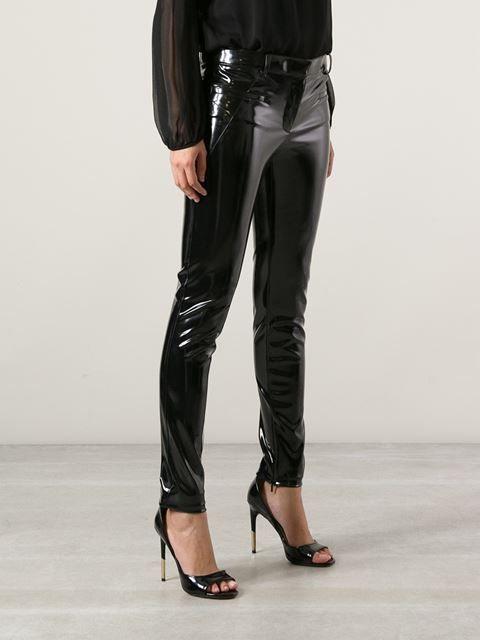 Versace pantalon en vinyle