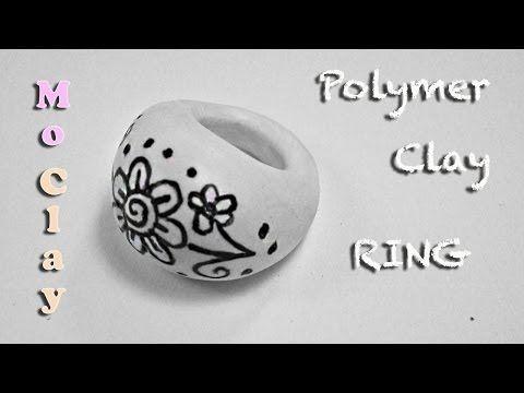 ▶ DIY Polymer Clay Video Tutorial. Drawn Ring - Arcilla polimérica Anillo - Argilla polimerica Anello - YouTube