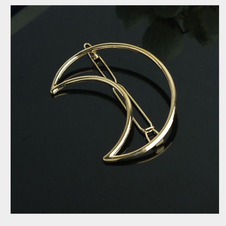 mode maan en driehoekige metalen haar pin in  van haar sieraden op AliExpress.com   Alibaba Groep