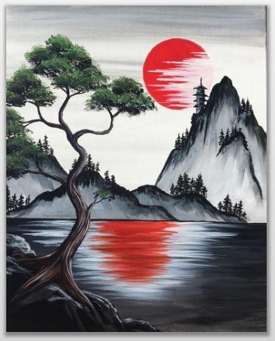 Tableau | Paysage peinture facile, Peinture paysage, Dessin paysage