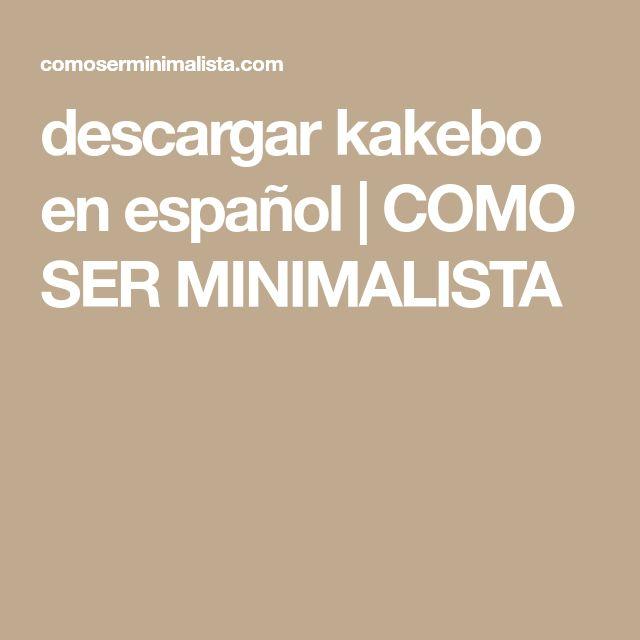 descargar kakebo en español | COMO SER MINIMALISTA Minimalism, Day Planners