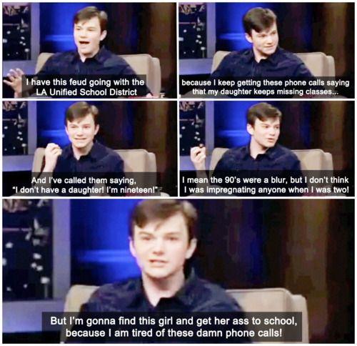 Oh my goodiness... I love Chris