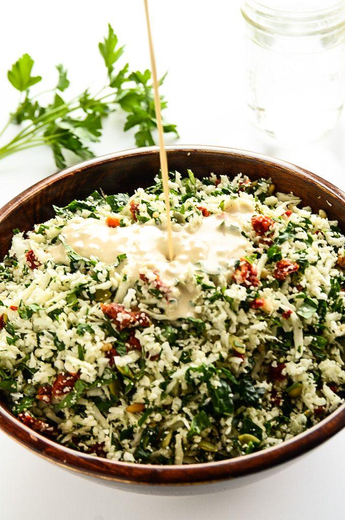 Raw Cauliflower Detox Salad | Blissful Basil