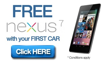 Free Nexus 7 Tablet with first car purchased