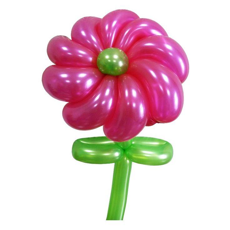 Крученый цветок из воздушных шаров. Видео: https://youtu.be/i1Lb8kGW5iE Инструкция: http://sharlar.ru/page/twist-daisy.html. Цветы из воздушных шаров, flower from balloons