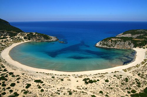 "Voidokilia Beach, one of the best beaches in the world according to ""The Times""  #beach #greece #messinia #voidokilia"