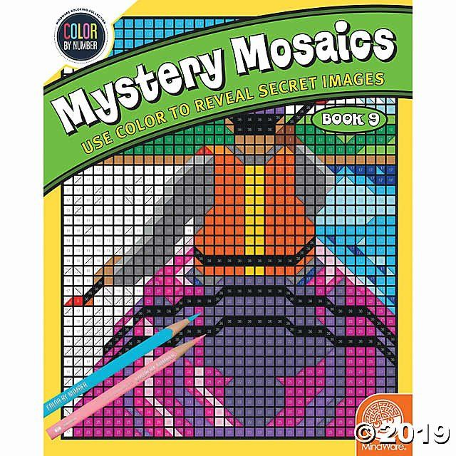 Mystery Mosaics Coloring Book Beautiful Color By Number Mystery Mosaics Book 9 Mosaic Books Coloring Books Words Coloring Book
