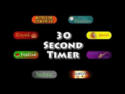 Musical 30 Second Timer. Pick from 9 songs and they stop after 30 seconds.