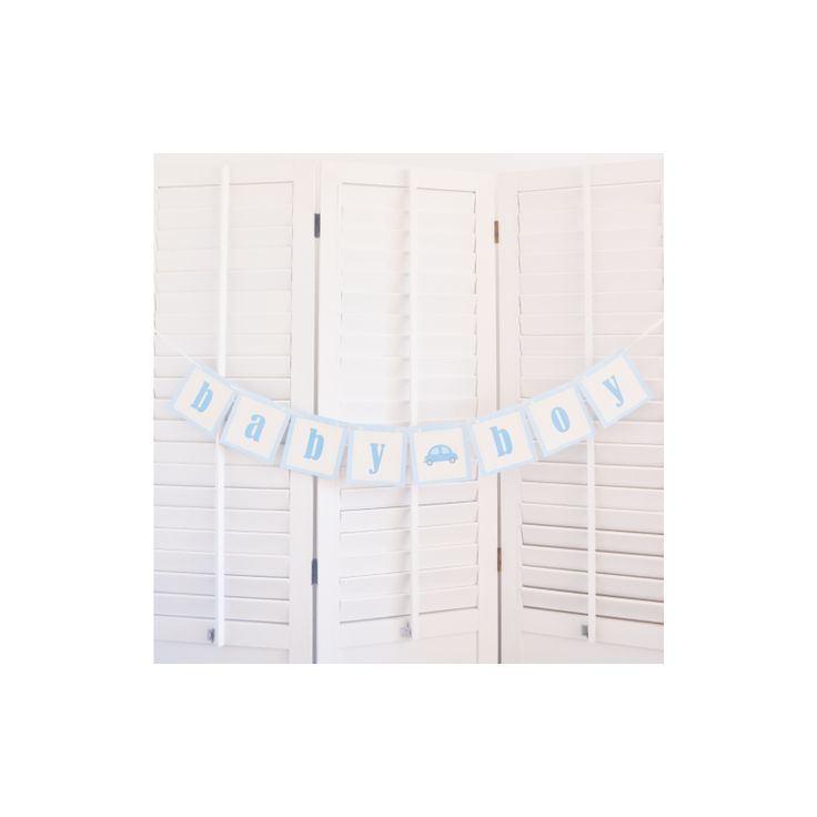Baby boy banner: ideal for parties, baptism or baby shower  http://bowsandpies.ro/ghirlande/92-banner-baieti-baby-boy.html