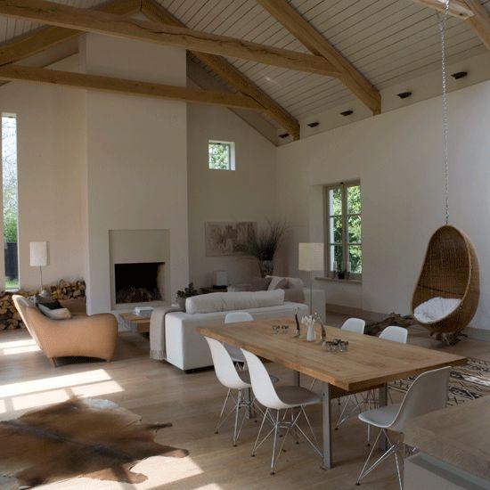Barn-style living room | Open-plan living room decorating ideas | Sofas | Image | Housetohome