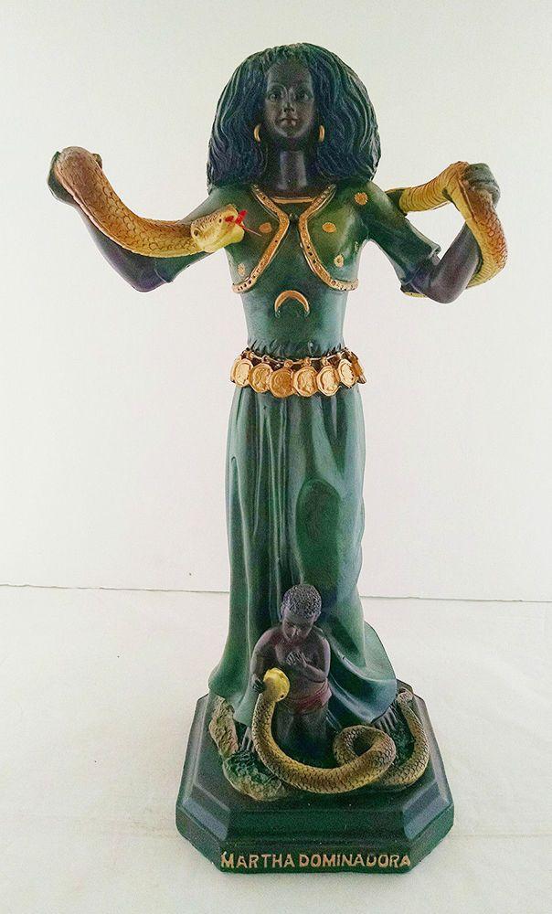 13 Inch Santa Marta Dominadora St Saint Martha Dominator Dominatrix Snake Statue