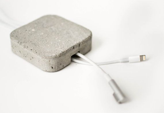 Details we like / Cable Management / Concrete / Square / Round Corners / at Design Blinge