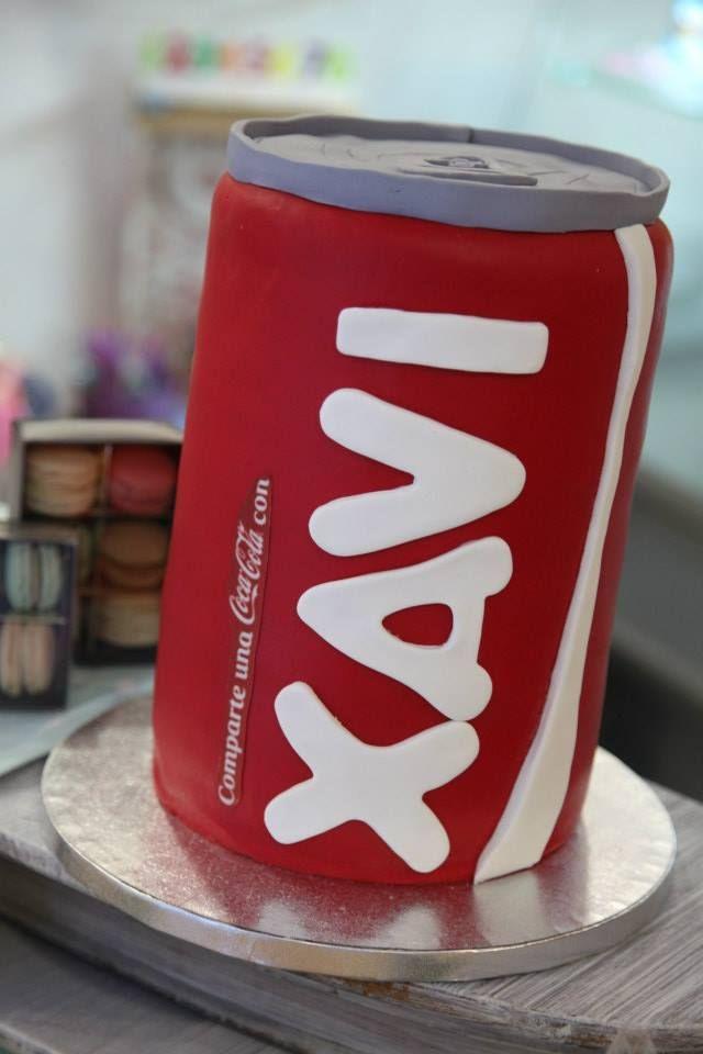 Cake coke, lata de coca cola