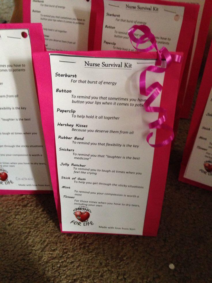 Nurse survival kit #nurse #gift #diy #wesaneal