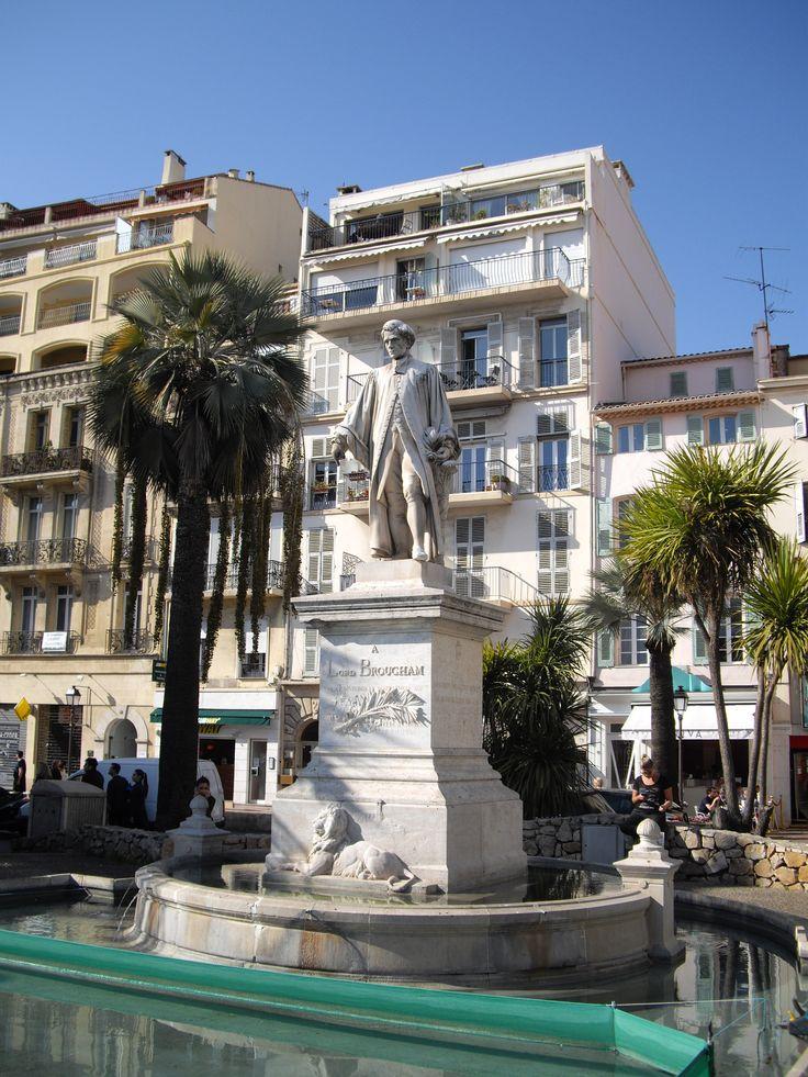 Cannes - Centre des allées - Statue de Lord Brougham. by Stefania Antonelli