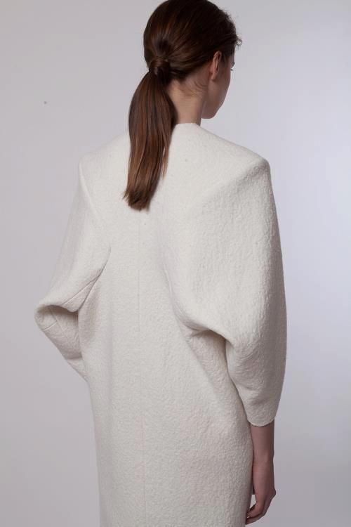 Sculptural Fashion with cocooning sleeves - shape, structure & volume // Litkovskaya FW12-13
