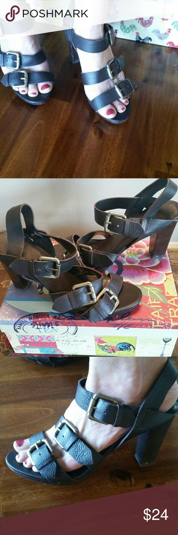 *SALE*Ana high heels Ana leather high heels. Multiple straps and buckles. Very cute. Only worn once! Ana Shoes Heels