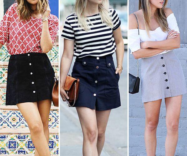 Saia jeans com botões: reviva os anos 70 com essa tendência! | Garotas do Brasil – Via Marte