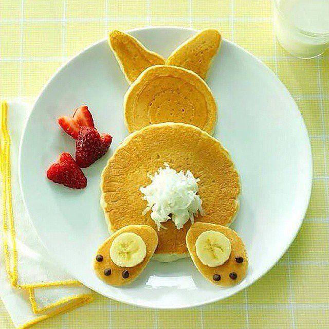 Was für ein süßes Pancake-Häschen <3