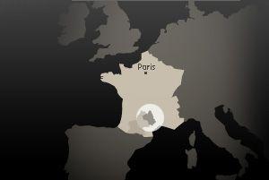 Carte de l'Aveyron en Europe