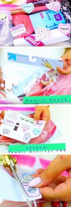 Tumblr Makeup Bag   DIY Tumblr Inspired School Supplies for Teens you need to try!