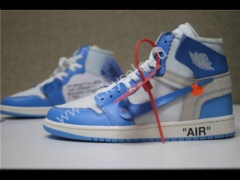 huge selection of 17d2e 6e275 God Off White X Air Jordan 1 Powder Blue UNC with Retail ...