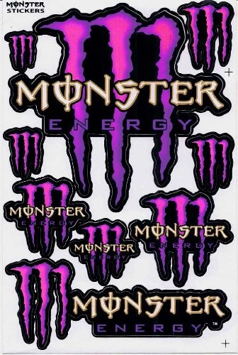 monster energy graphic racing sticker decal motorcycle atv. Black Bedroom Furniture Sets. Home Design Ideas