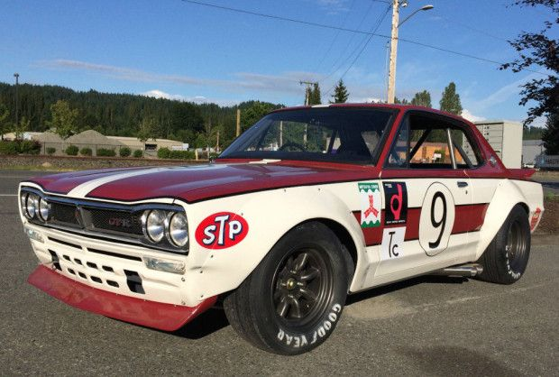 This 1972 Nissan Skyline GT is well known at west coast tracks, being campaigned regularly in the two years since completion by it builder Jim Froula. The car is the only race-spec Hako that we have ever seen on track in the USA, and and the build is a nice homage to the livery and details of the ca