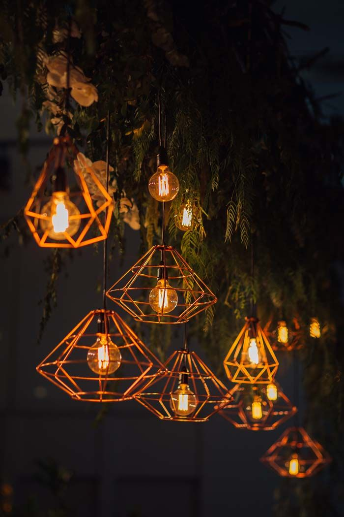 Geometric lighting with a vintage flair. Credits in comment.
