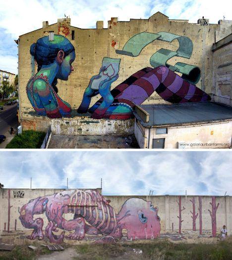: Wall Art, Wide Street Art Aryz, Street Artists, Artists Stencil, Unloved Walls, Pure Talent, Urban Art, Artsy Fartsy, Artful Wall
